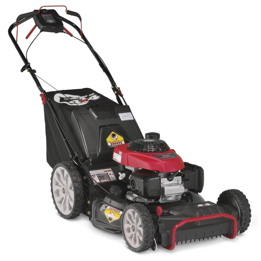 Troy-Bilt XP 21 in  190 cc Honda Gas Walk Behind Self Propelled Lawn Mower  with High Rear Wheels, 3-in-1 TriAction Cutting System