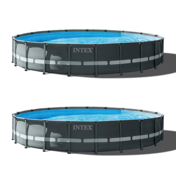 Intex 20ft X 48in Ultra Xtr Round Swimming Pool Set Sand Filter Pump 2 Pack 2 X 26333eh The Home Depot
