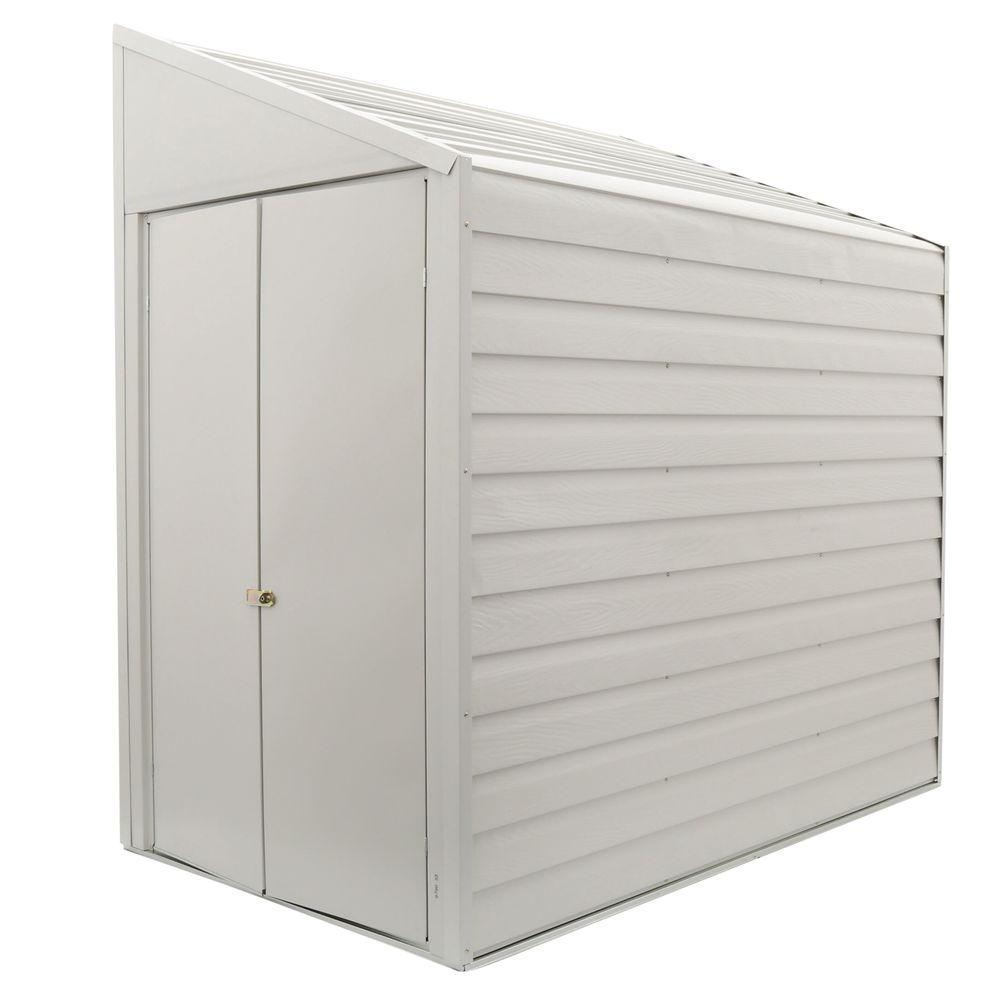 Arrow Yard Saver 4 ft. W x 7 ft. D  White Galvanized Metal Storage Shed