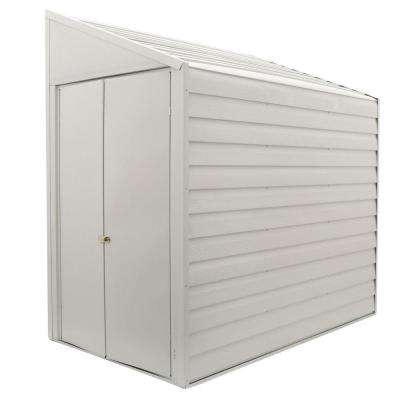 Yard Saver 4 ft. W x 7 ft. D  White Galvanized Metal Storage Shed