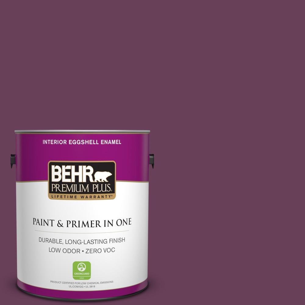 1 gal. #PPU1-20 Spiced Plum Zero VOC Eggshell Enamel Interior Paint