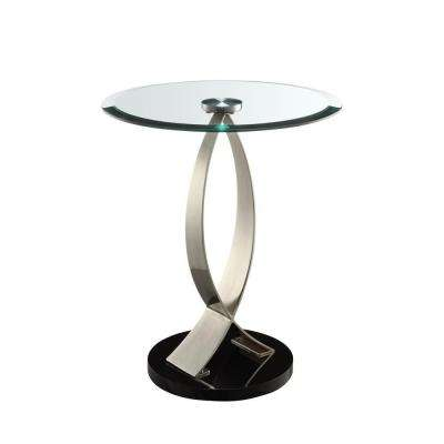 Black Glass Top Side Table