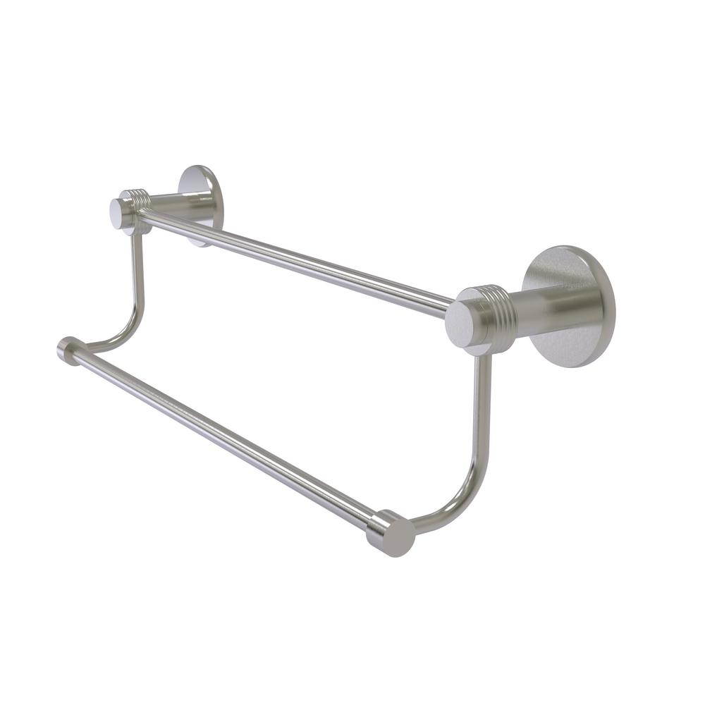 Mercury Collection 24 in. Double Towel Bar with Groovy Accent in