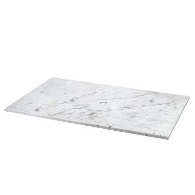 31 in. Marble Vessel Top in Carrara