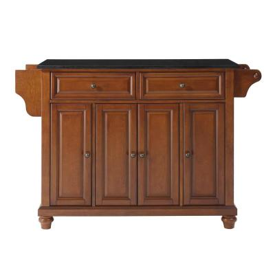 Cambridge Cherry Kitchen Island with Granite Top
