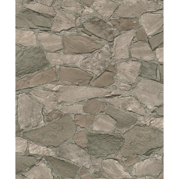 Stanley Charcoal Stone Wallpaper Sample