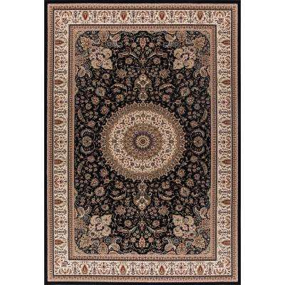 Williams Collection Tabriz Black 5 ft. x 7 ft. Area Rug