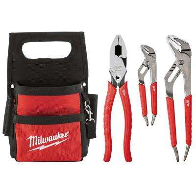 Electrician's Pliers Set with Compact Pouch (3-Piece)