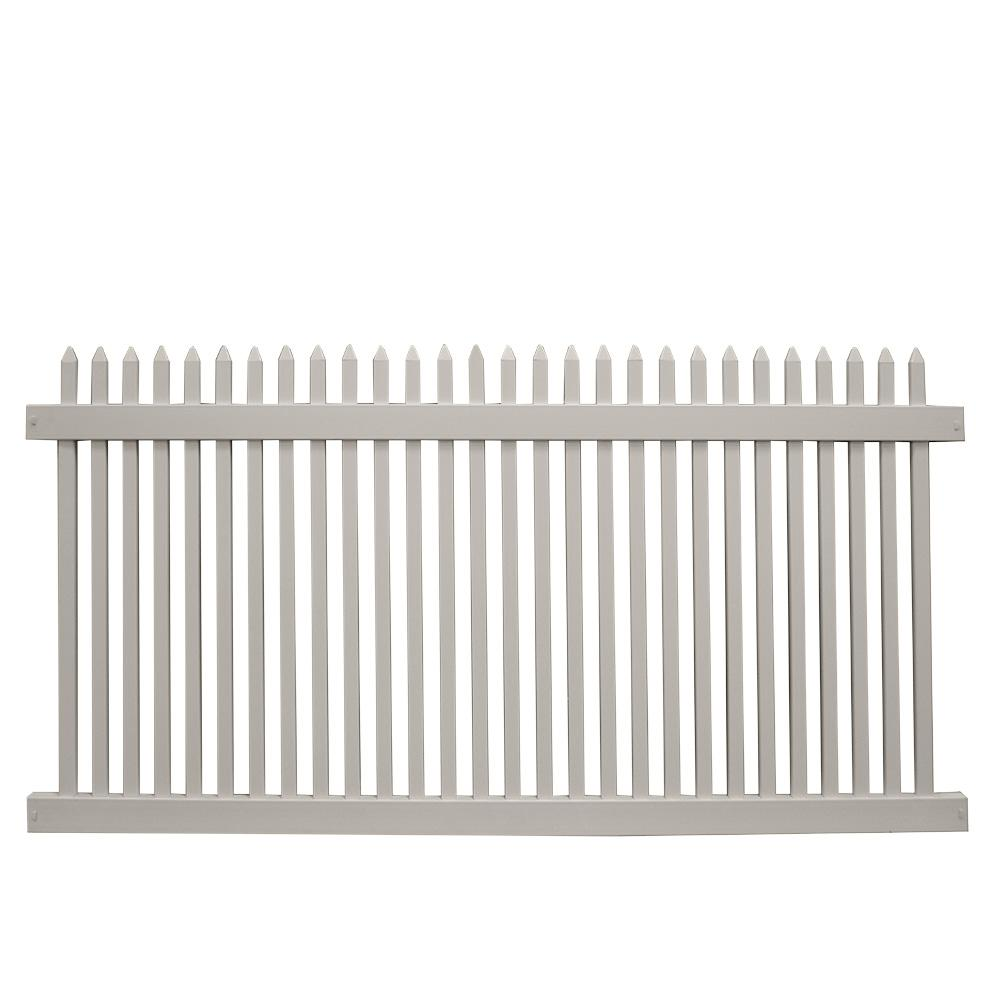 Weatherables Hartford 4 Ft H X 8 Ft W Tan Vinyl Picket