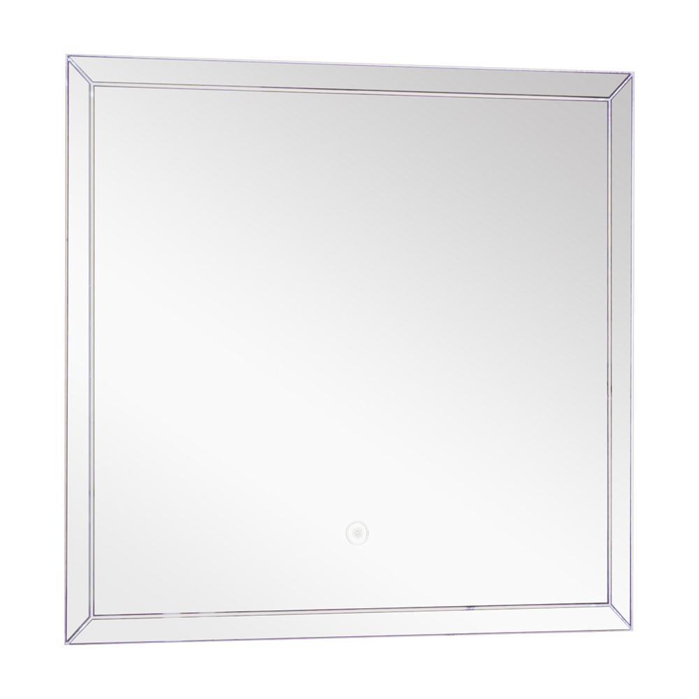 Finn 23.62 in. x 21.65 in. Single Frameless LED Mirror
