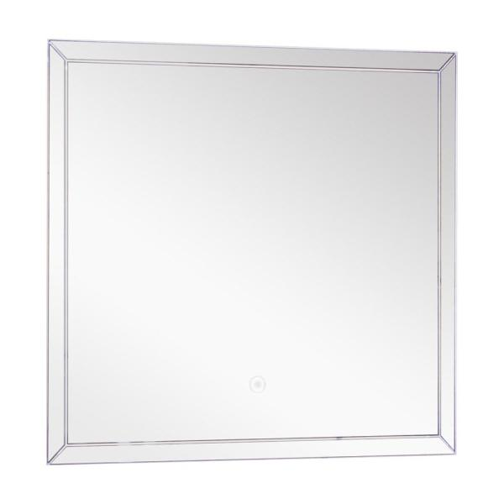 Finn 23.62 in. W x 21.65 in. H Frameless Rectangular LED Light Bathroom Vanity Mirror in Silver