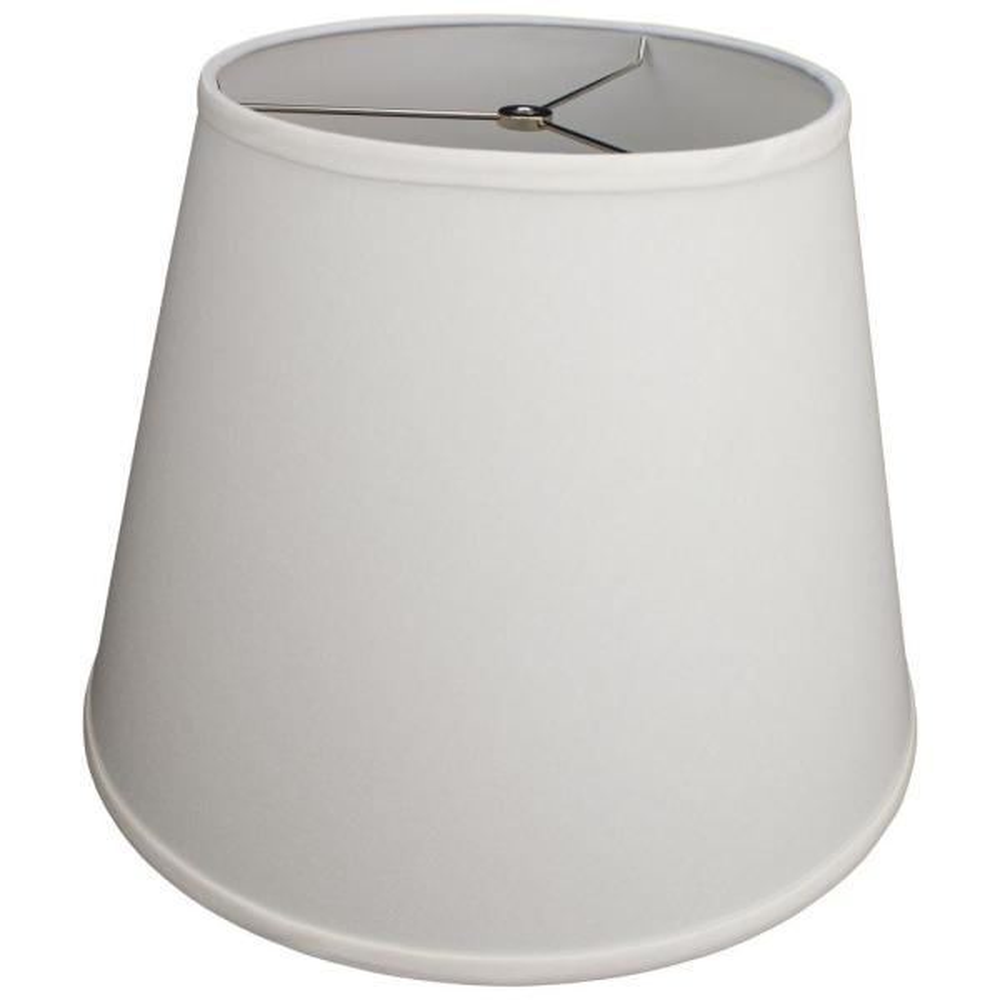 11 in. Top Diameter x 17 in. Bottom Diameter x 13 in. Slant Linen Cream Empire Lamp Shade
