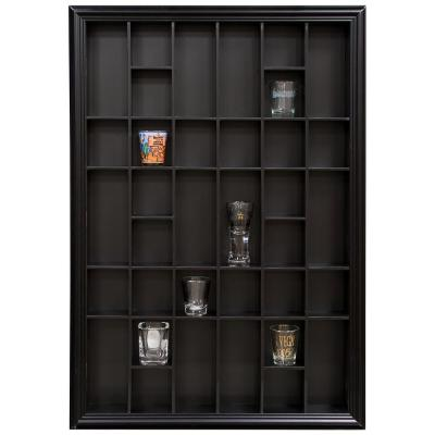 Gallery Solutions 26.2 in. W x 2.7 in. D Black Shot Glass Decorative Shelf