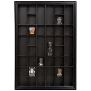 Click here to buy Pinnacle Gallery Solutions 26.2 inch W x 2.7 inch D Black Shot Glass Decorative Shelf by Pinnacle.