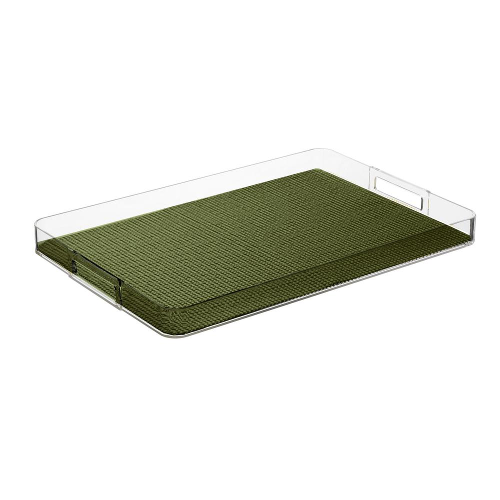 Fishnet Kale Green Rectangular Serving Tray