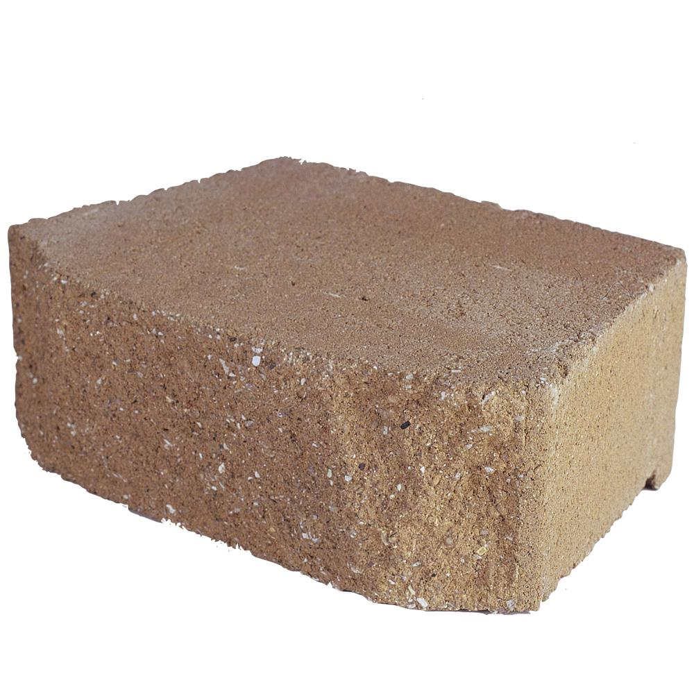 Pavestone 6.75 in. L x 11.63 in. W x 4 in. H Tan Concrete Retaining Wall Block (144-Piece/46.6 sq. ft./Pallet)