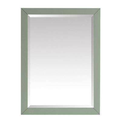 Windlowe 24 in. x 32 in. Framed Mirror in Sea Green