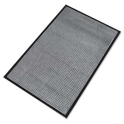 A1HC Rub-Poly Multi Utility Grey Indoor/Outdoor 36 in. x 60 in. Scraper Door Mat