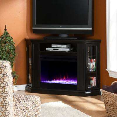 Denton Color Changing 48 in. Convertible Electric Fireplace TV Stand in Black
