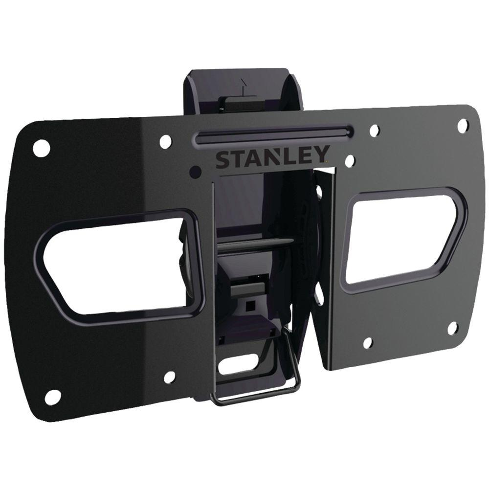 Stanley 13 in. - 37 in. Tilt Wall Mount, Black The 13 in. - 37 in. Tilt TV Mount by Stanley is built for quality, performance and durability. It is designed and built for TVs 13 in. - 37 in. and holds up to 40 lbs. It features a 20° tilt and click and release for easy install and cabling. Mount your TV for optimal visibility and simplicity with the Basic Tilt TV Mount. Color: Black.