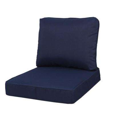 23.25 x 27 Outdoor Lounge Chair Cushion in Standard Midnight Blue