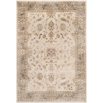 Vintage Stone/Mouse 10 ft. x 14 ft. Area Rug
