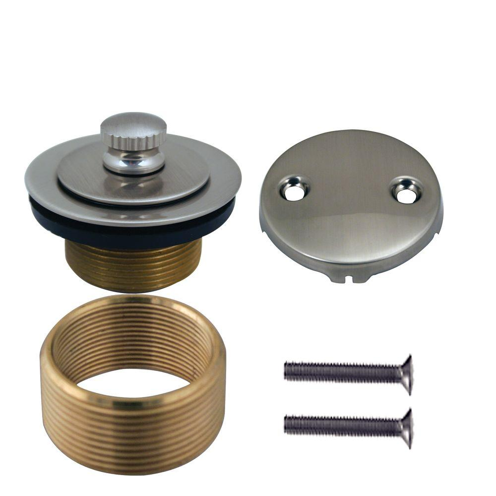 Belle Foret Universal Twist and Close Tub Waste Trim Kit in Satin Nickel