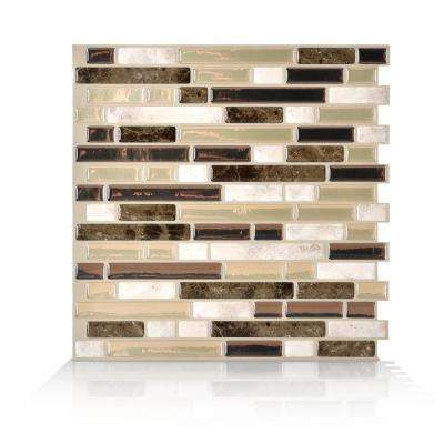 Bellagio Bello Beige 10.06 in. W x 10.00 in. H Peel and Stick Self-Adhesive Decorative Mosaic Wall Tile (6-Pack)