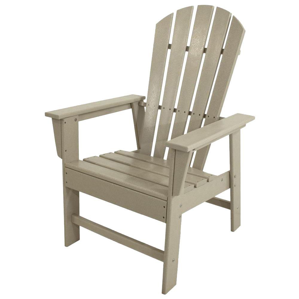 POLYWOOD South Beach Sand All-Weather Plastic Outdoor Dining Chair