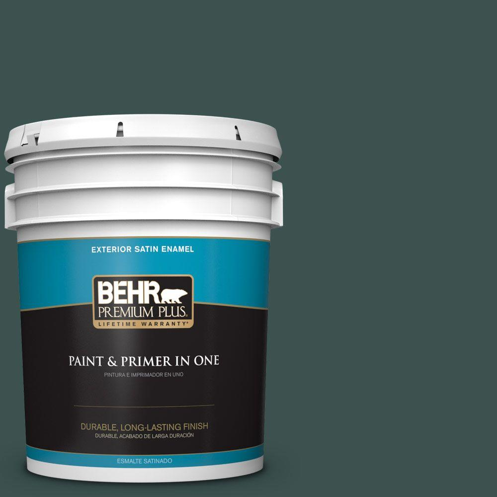 5 gal. #HDC-CL-21A Dark Everglade Satin Enamel Exterior Paint