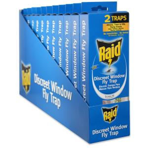 Raid Window Discreet Indoor Fly Trap (2-Pack/Case) (Total Number of Traps - 24) by Raid