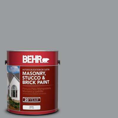 1 gal. #MS-82 Cobblestone Grey Satin Interior/Exterior Masonry, Stucco and Brick Paint