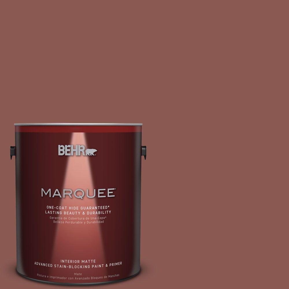1 gal. #MQ1-20 Rust One-Coat Hide Matte Interior Paint