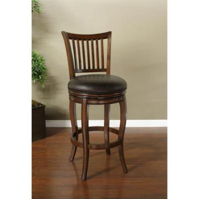 Maxwell 26 in. Suede Cushioned Bar Stool