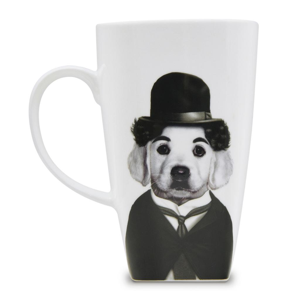 20 oz.  Tramp  Pets Rock Collectible Fine Bone China Mug, Tramp These Pets Rock fine bone china coffee mugs give you the option to see the adorable pets you love dressed as celebrities on your mugs. Available with a variety of furry creatures to fit any animal lovers desires. What better way to start your morning than with a cup of Joe and your adorable Pets Rock buddy. The porcelain is milky white in color, beautiful in shape and comfortable in your hand. Color: Tramp.