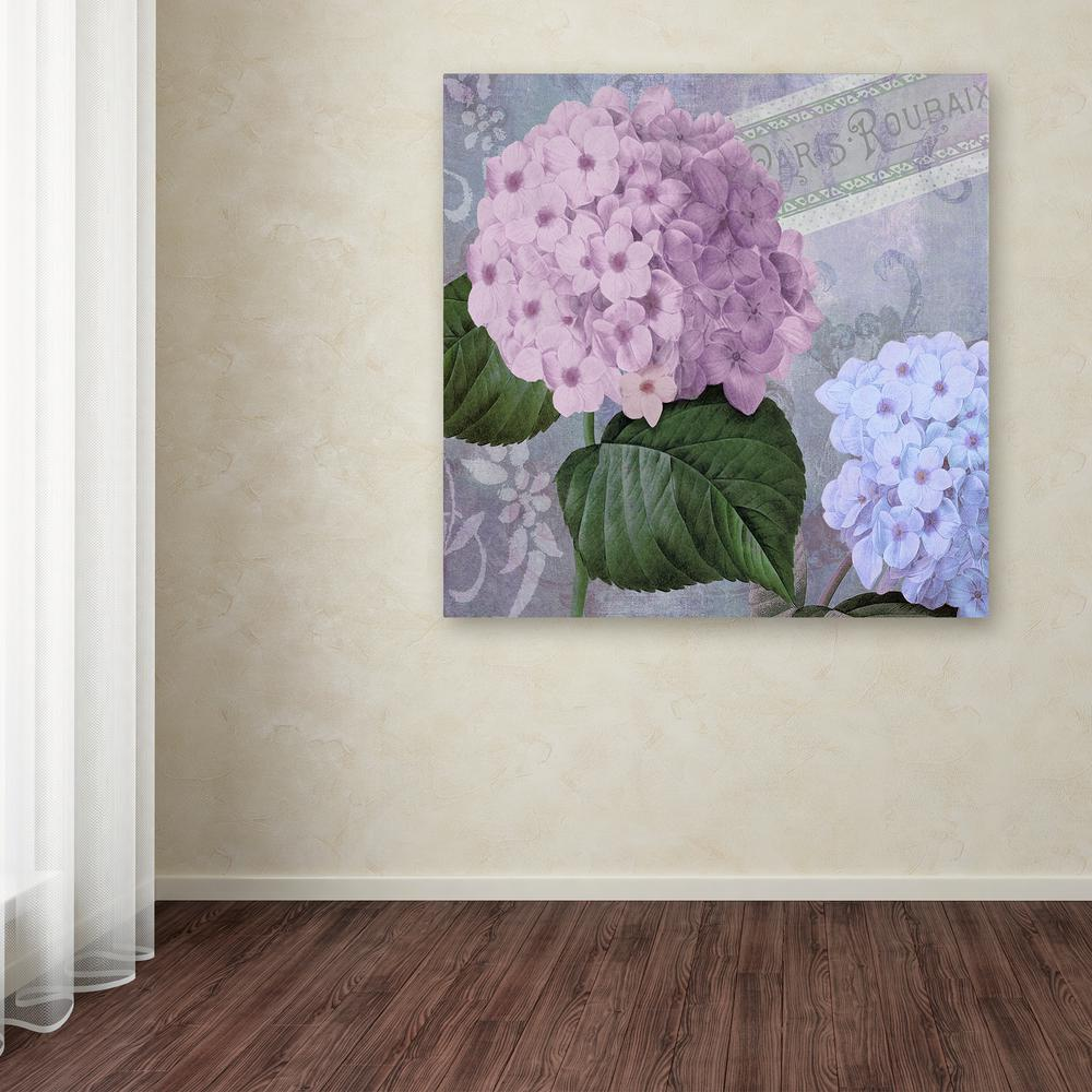 """18 in. x 18 in. """"Hortensia 2"""" by Color Bakery Printed"""