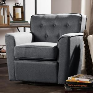 Baxton Studio Canberra Contemporary Gray Fabric Upholstered Accent Chair by