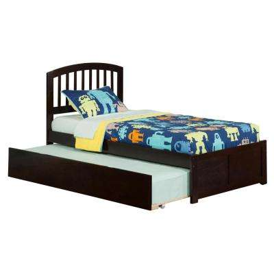 Richmond Espresso Twin Platform Bed with Flat Panel Foot Board and Twin Size Urban Trundle Bed