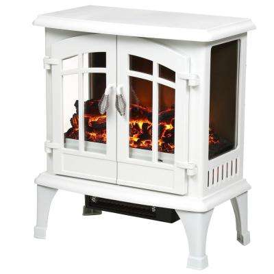 Legion 1,000 sq. ft. Panoramic Infrared Electric Stove in White