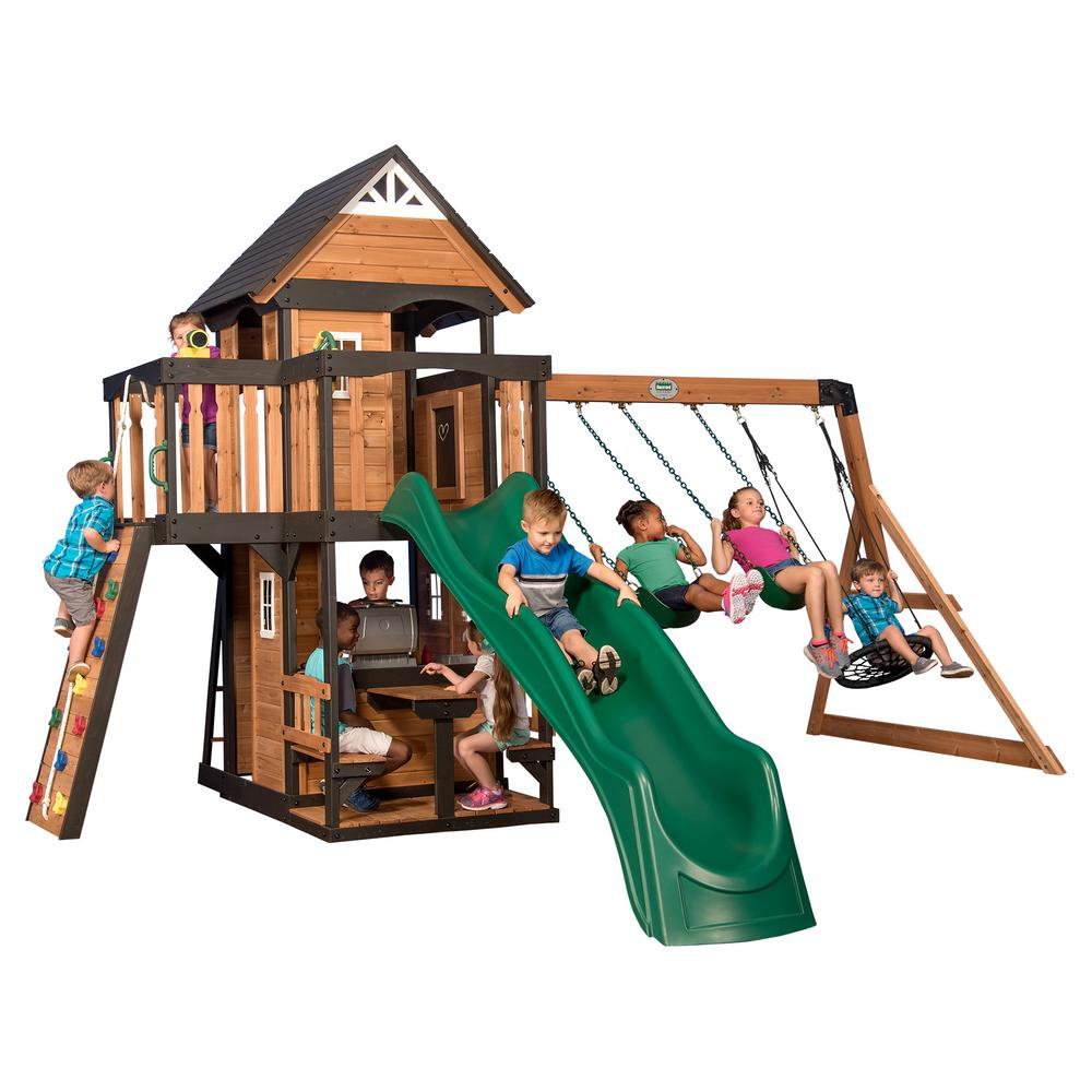 Backyard Discovery Canyon Creek All Cedar Swing Set