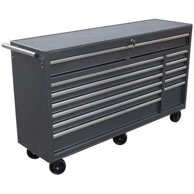 66 in. 12-Drawer Roll Away Tool Cabinet