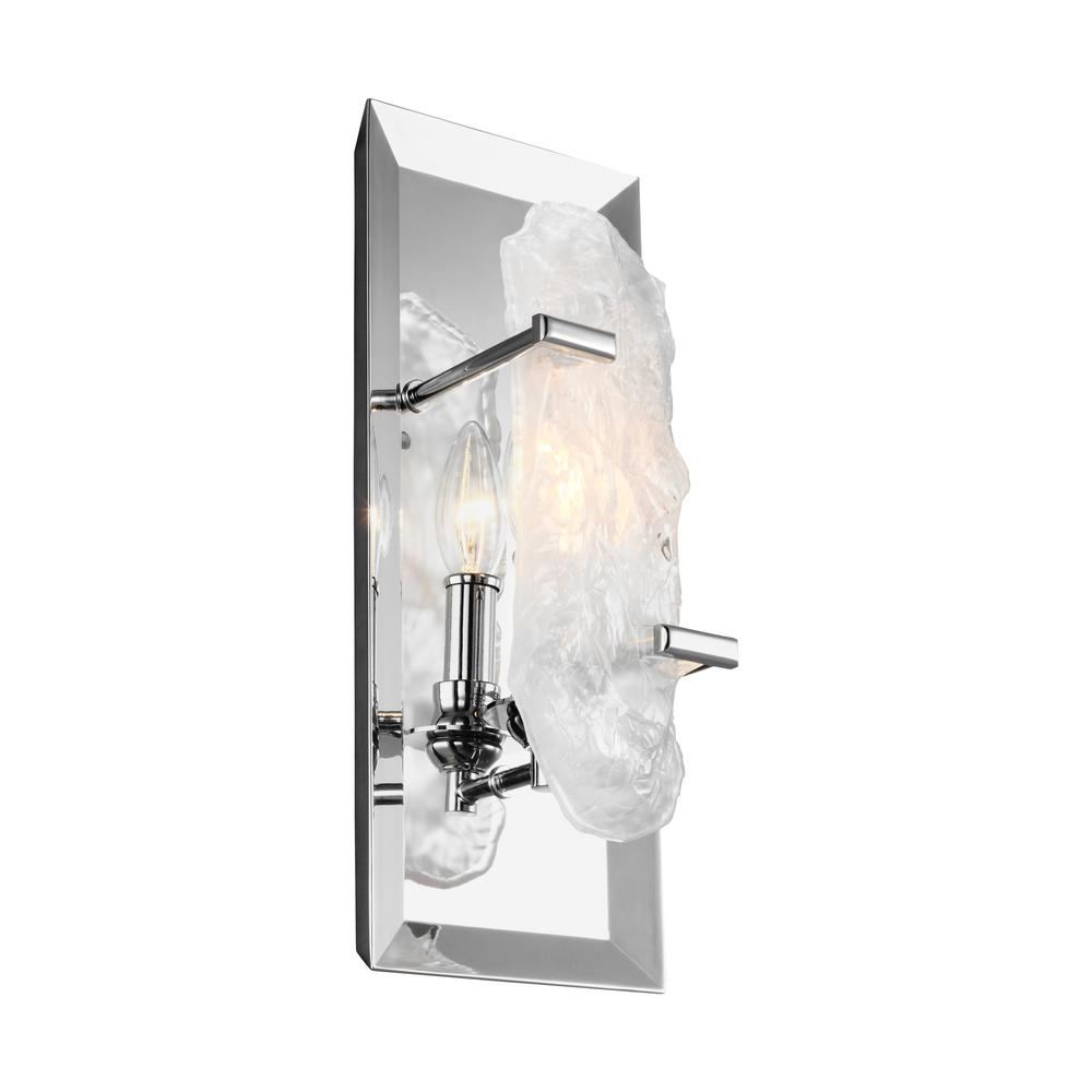 Feiss Katerina 1-Light Chrome Wall Sconce