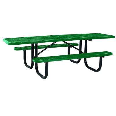 Portable 8 ft. Green Diamond Commercial ADA Rectangular Table