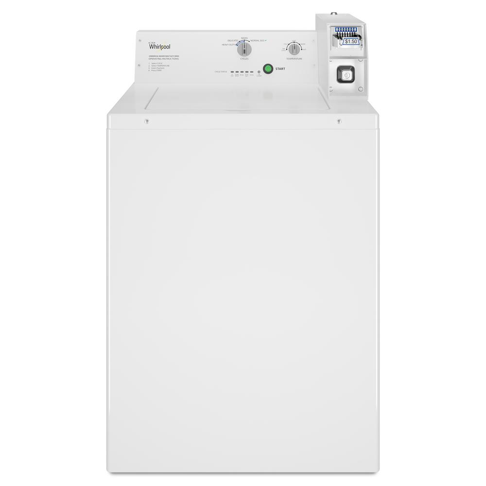 Whirlpool 3 3 cu  ft  White Commercial Top Load Washing Machine