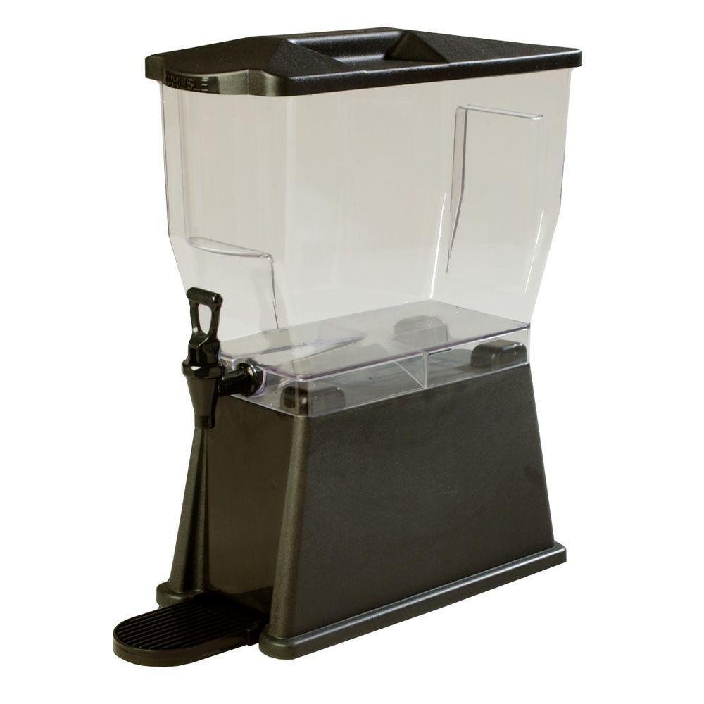 3 gal. Single Reservoir Premium Trim Beverage Dispenser in Black Base