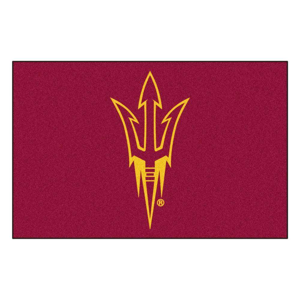 Fanmats Ncaa Arizona State University Red 2 Ft X 3 Ft Area Rug