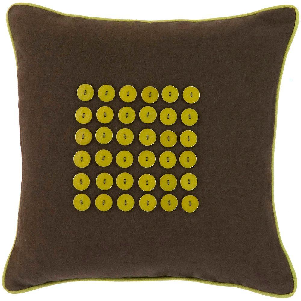 Artistic Weavers Button3 18 in. x 18 in. Decorative Pillow