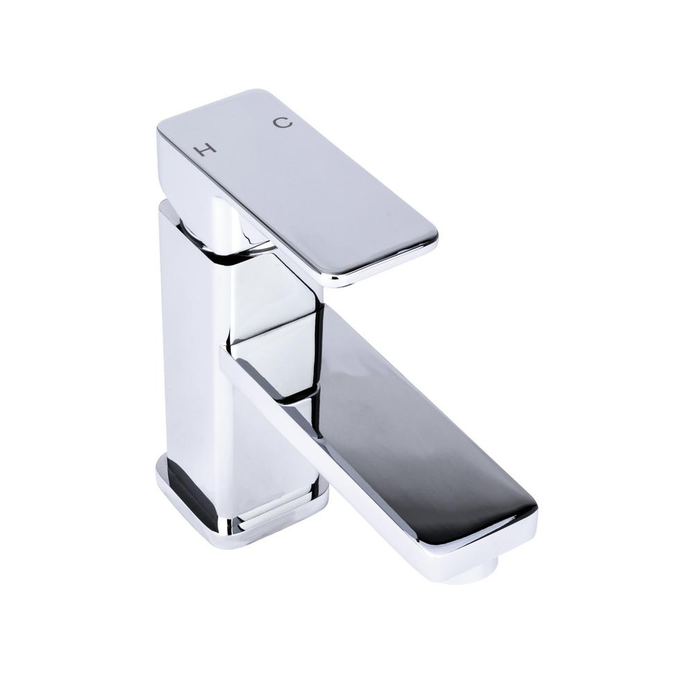 Brienza Square Single Hole Handle Bathroom Faucet In Chrome