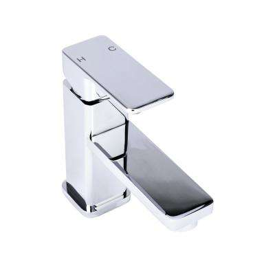 Square Single Hole Single-Handle Bathroom Faucet in Chrome