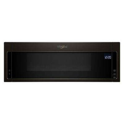 1.1 cu. ft. Over the Range Low Profile Microwave Hood Combination in Fingerprint Resistant Black Stainless